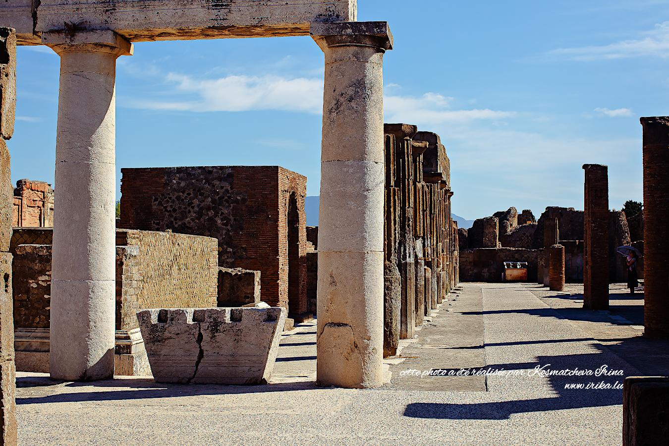 Début de l'excursion à Pompei