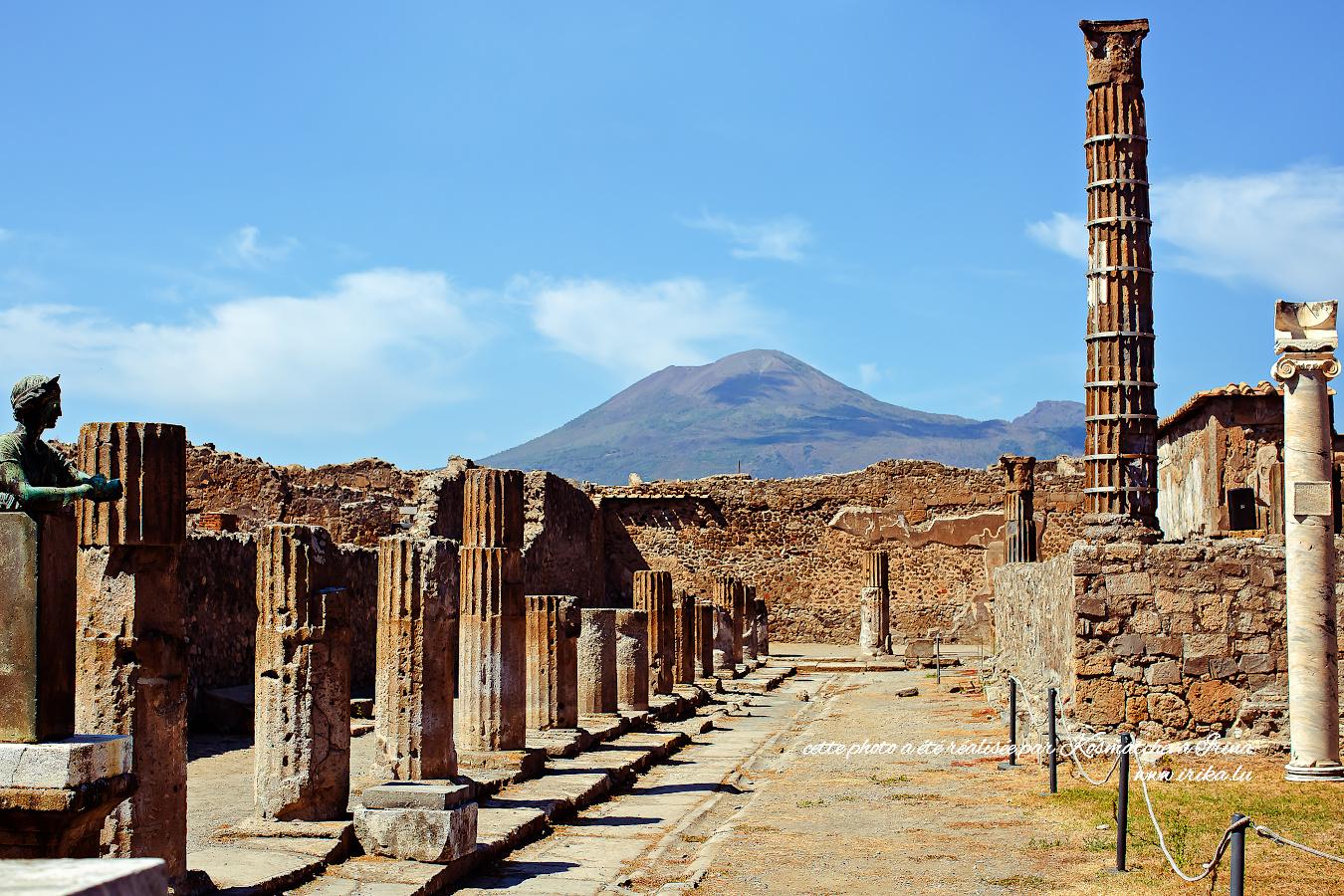 Vue sur Vesuve de Pompei