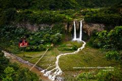 Funiculaire vers la cascade d'eau