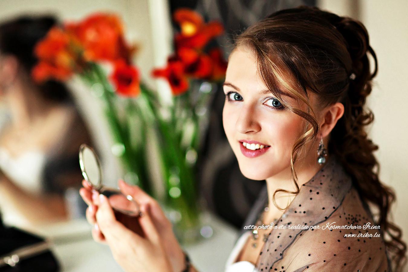 La belle Amélie le jour de son mariage