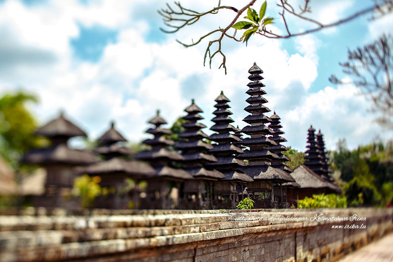 Rangée de temples