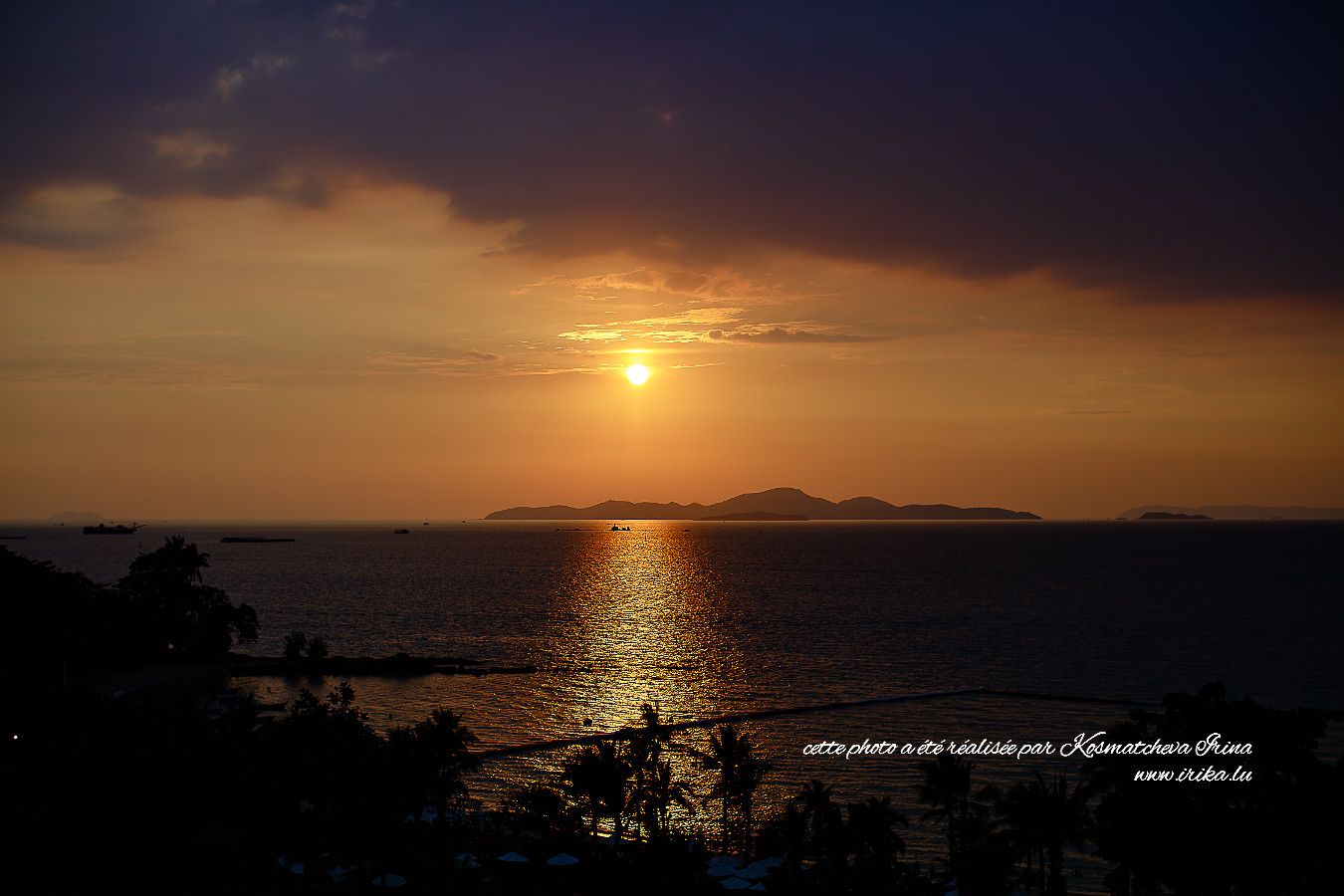Coucher du soleil à Pattaya