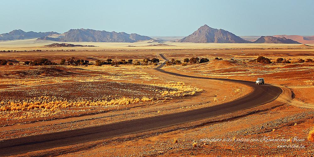 Route vers les dunes