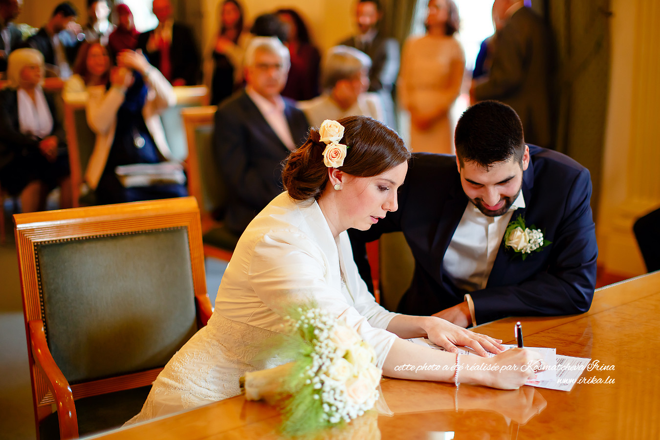 Attention à la signature de la mariée