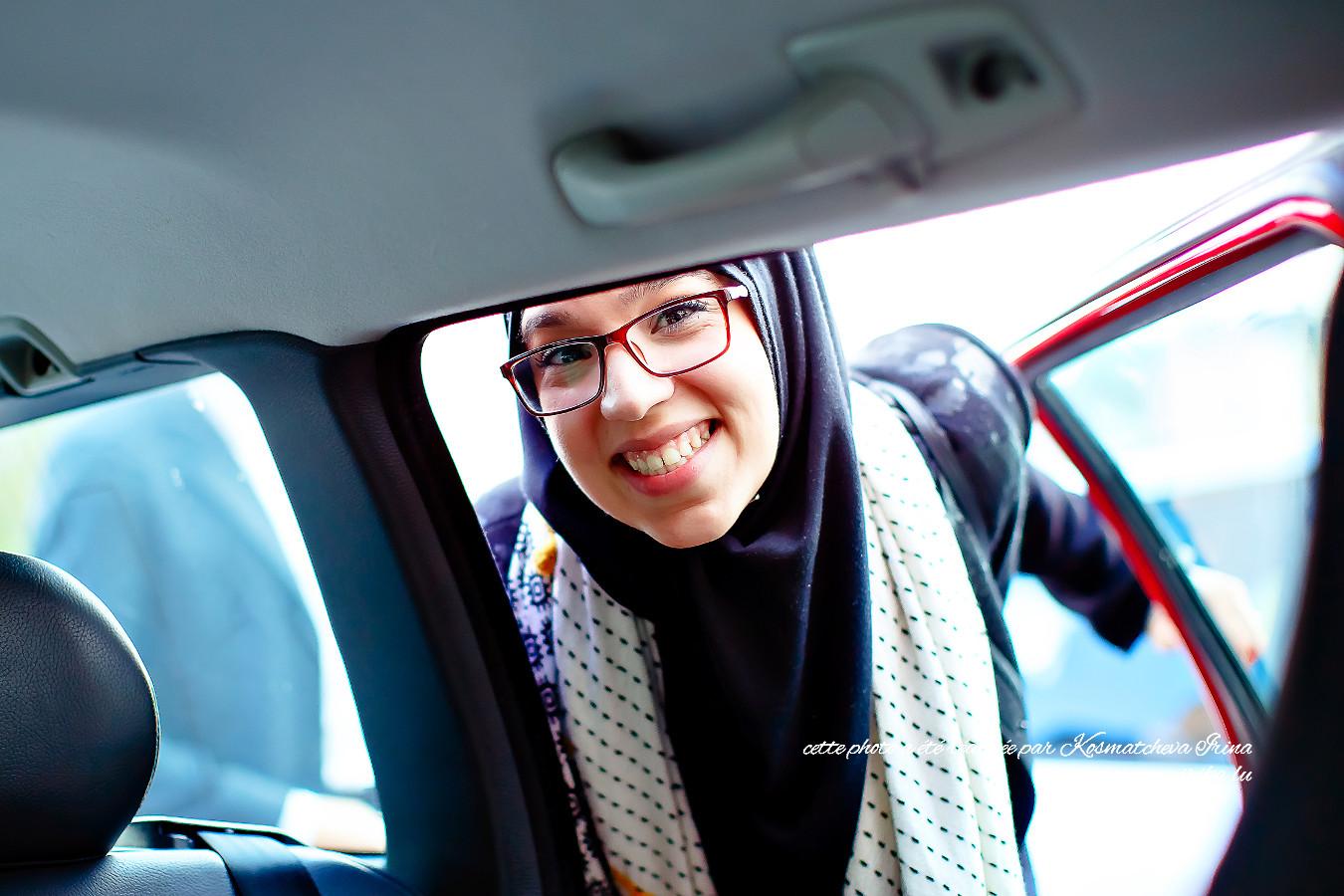 Photo prise dans la voiture