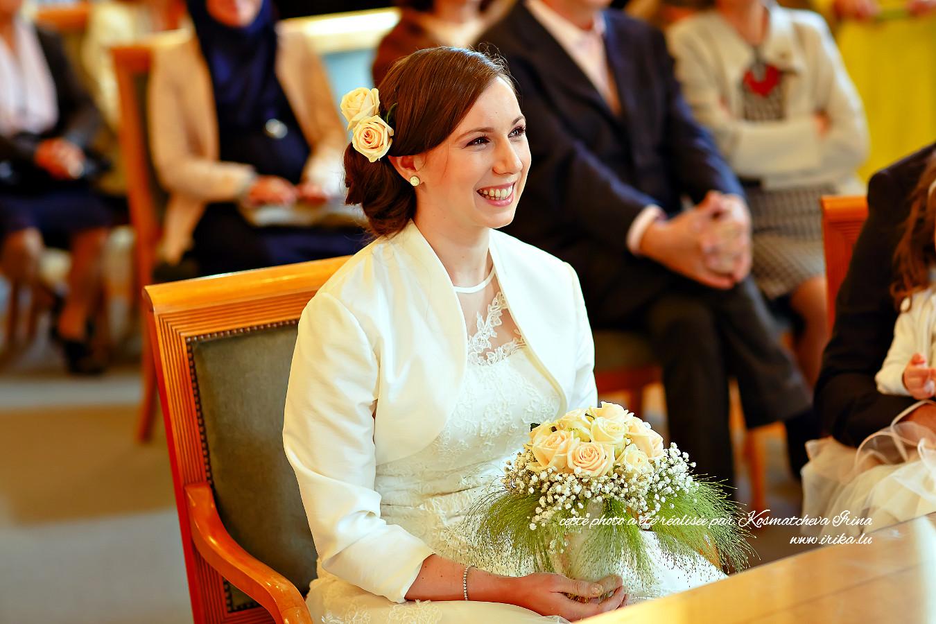 Portrait gros plan de la mariée