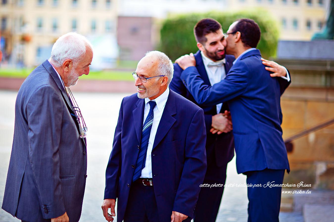Quatre hommes du mariage