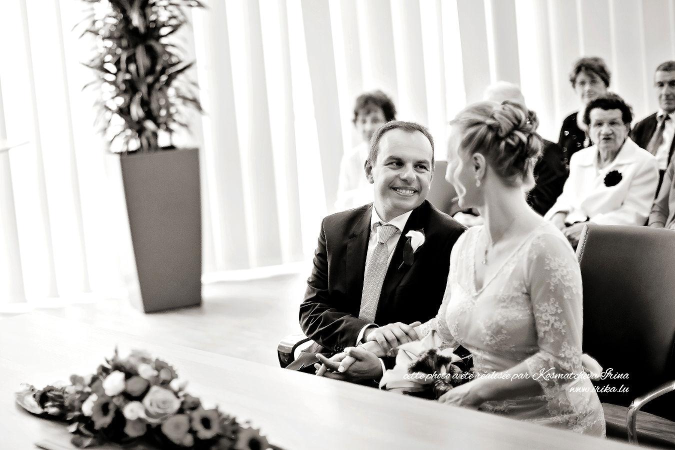Martina et Fabrice lors de la cérémonie civile