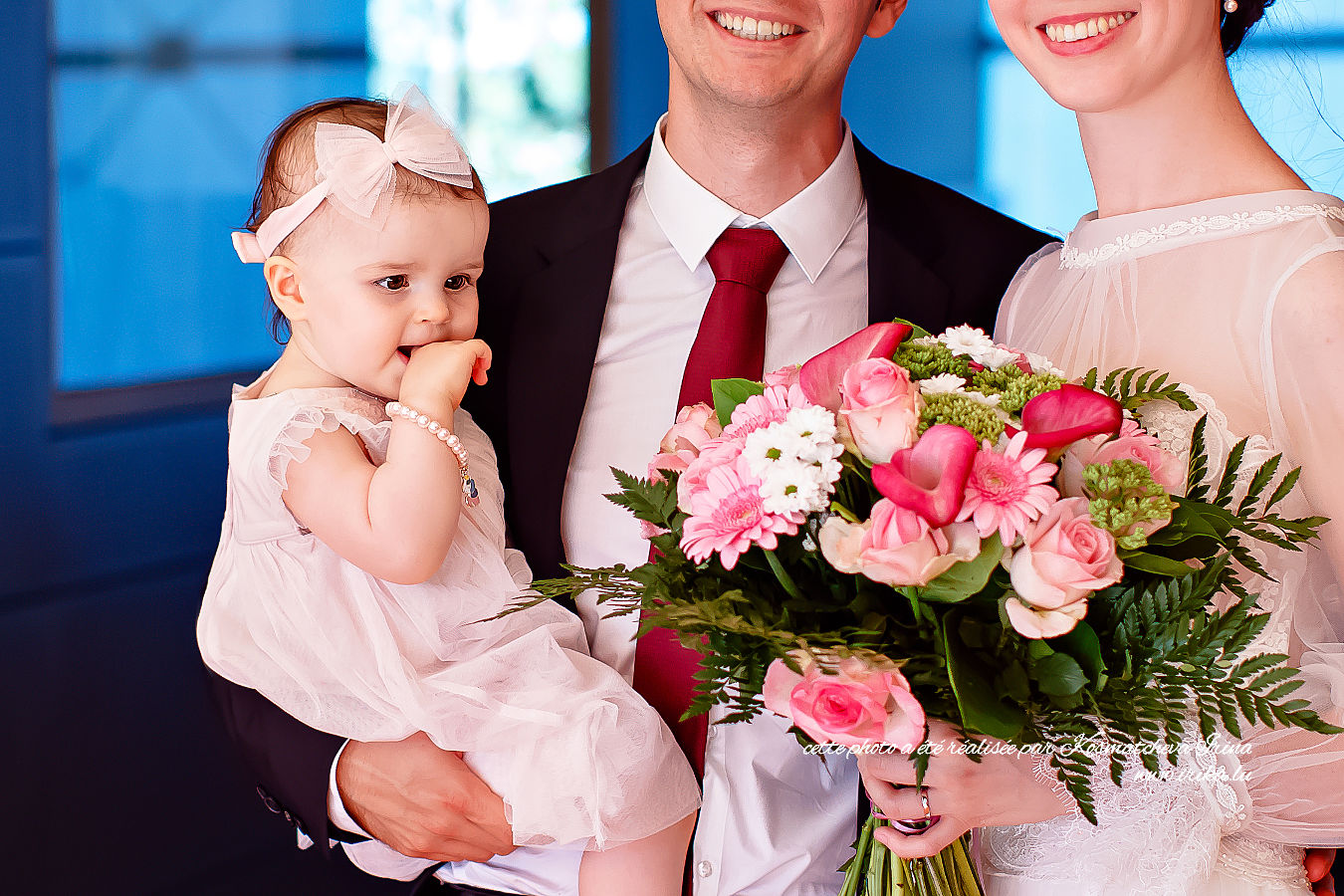 Alexandra au bouquet rose
