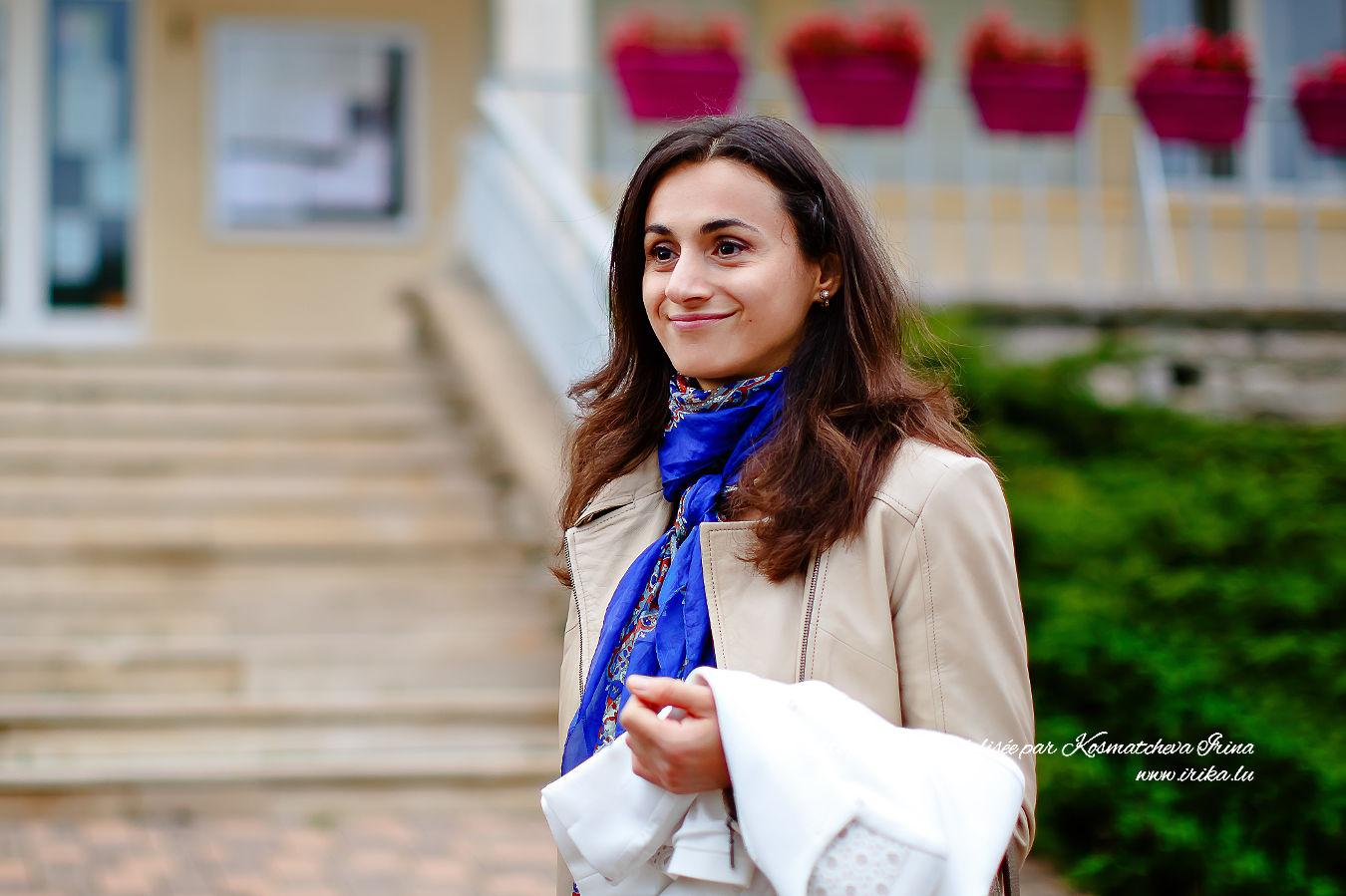 Une française souriante