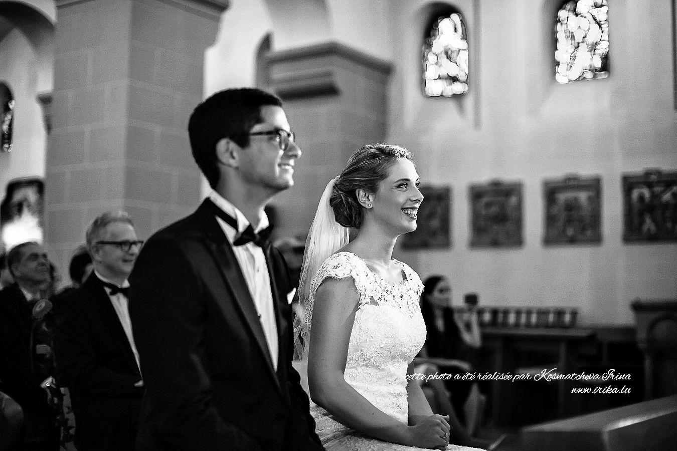 Photo prise lors de la messe nuptiale