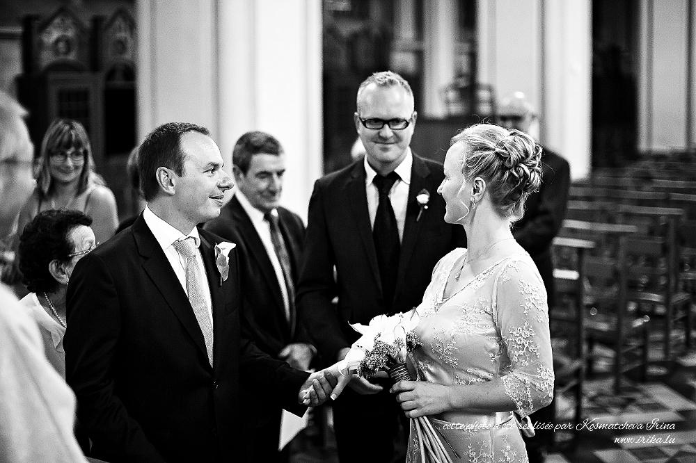 La venue de la mariée en église