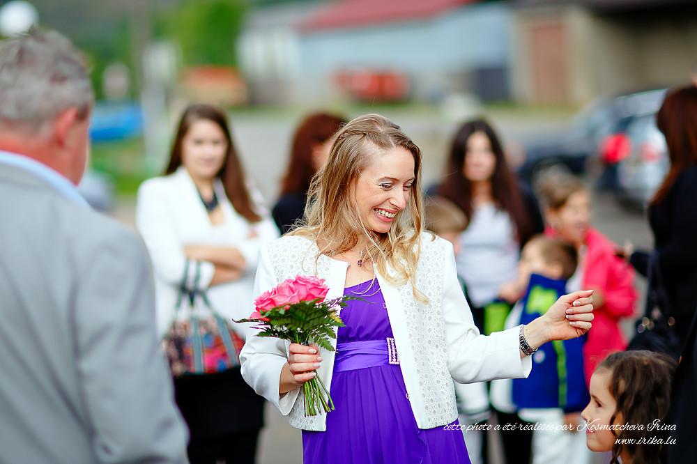 Olga souriante