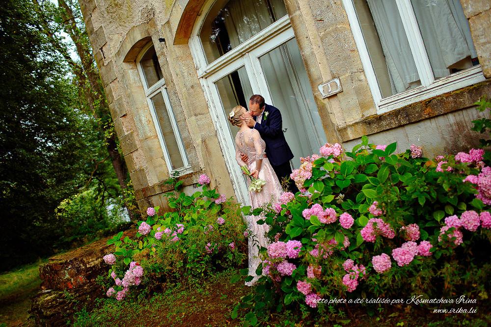 Bisous aux hortensias roses