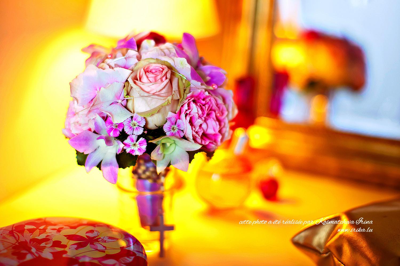 Bouquet de mariée aux teints dorés
