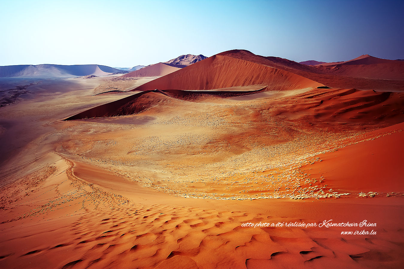Il faut grimper une dune pour une telle vue