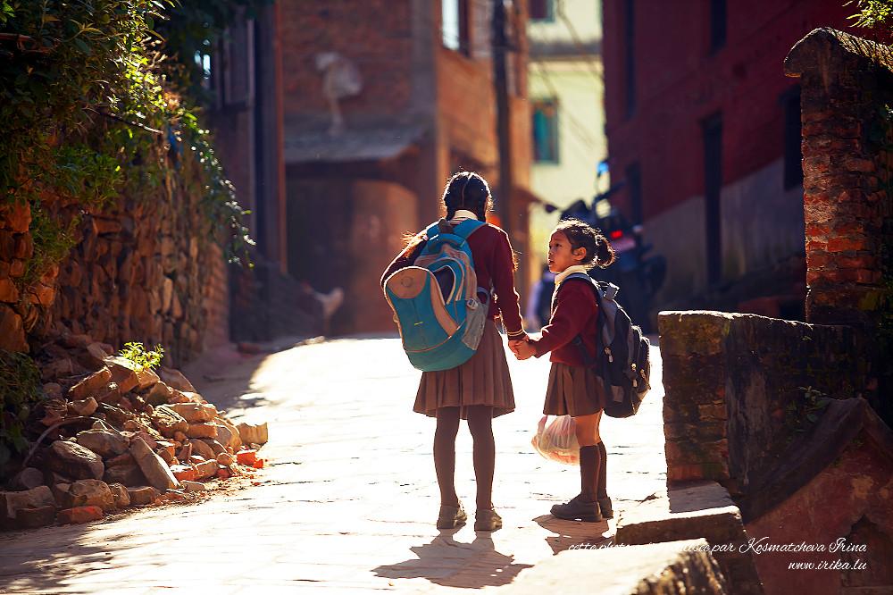 Deux écolières