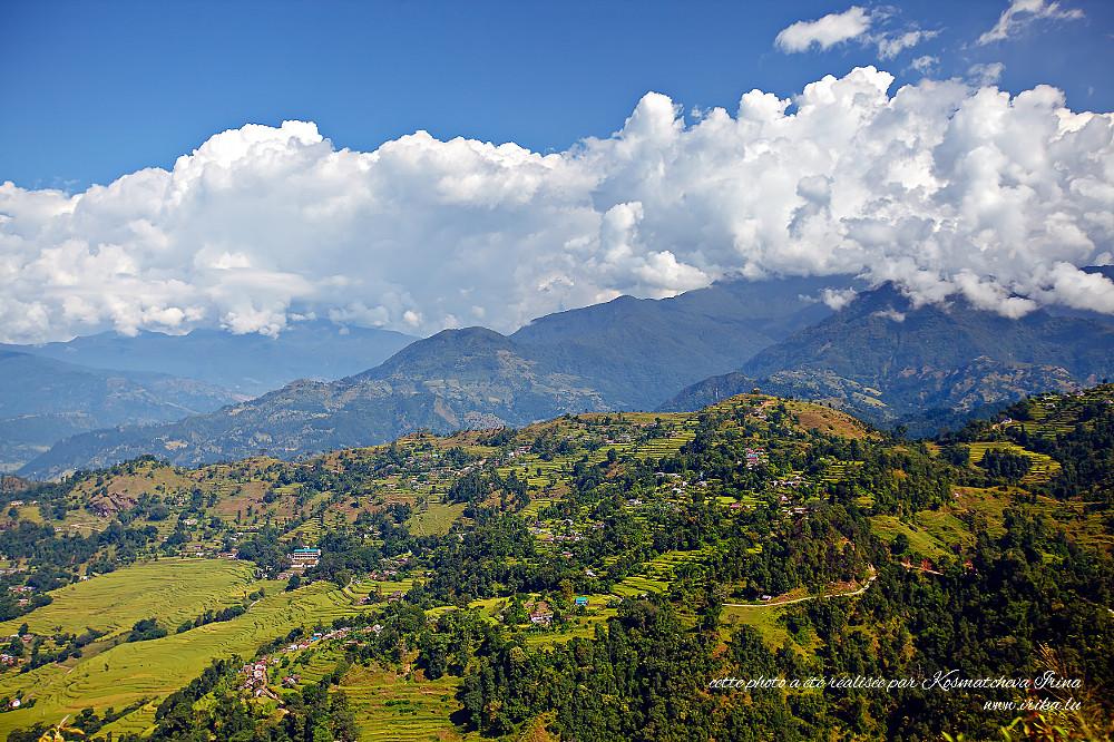 Vue sur les villages népalais