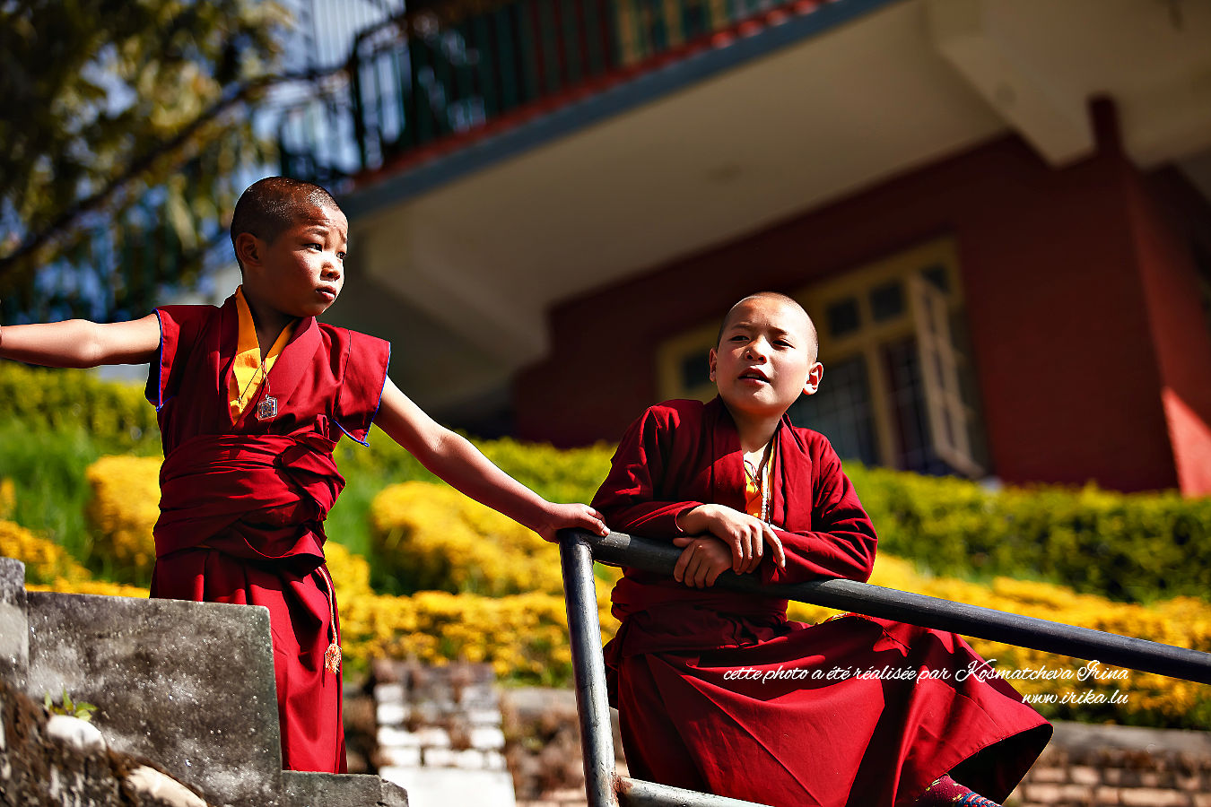 Deux futurs moines