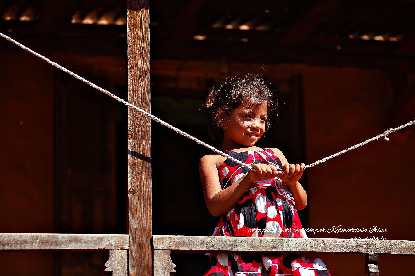 Une petite fille népalaise