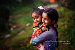 Deux soeurs dans le vert