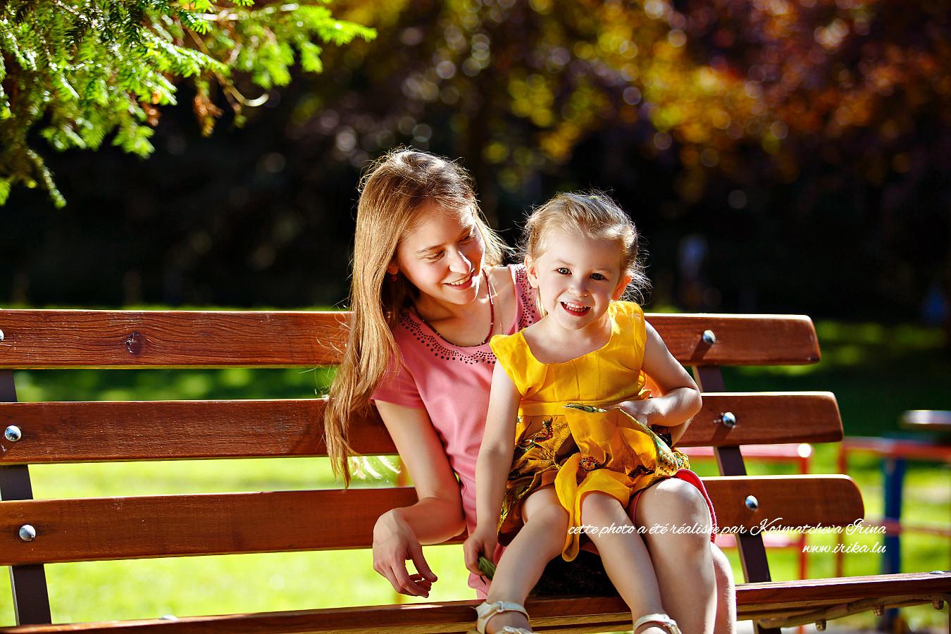 Photo classique d'une mère et sa fille