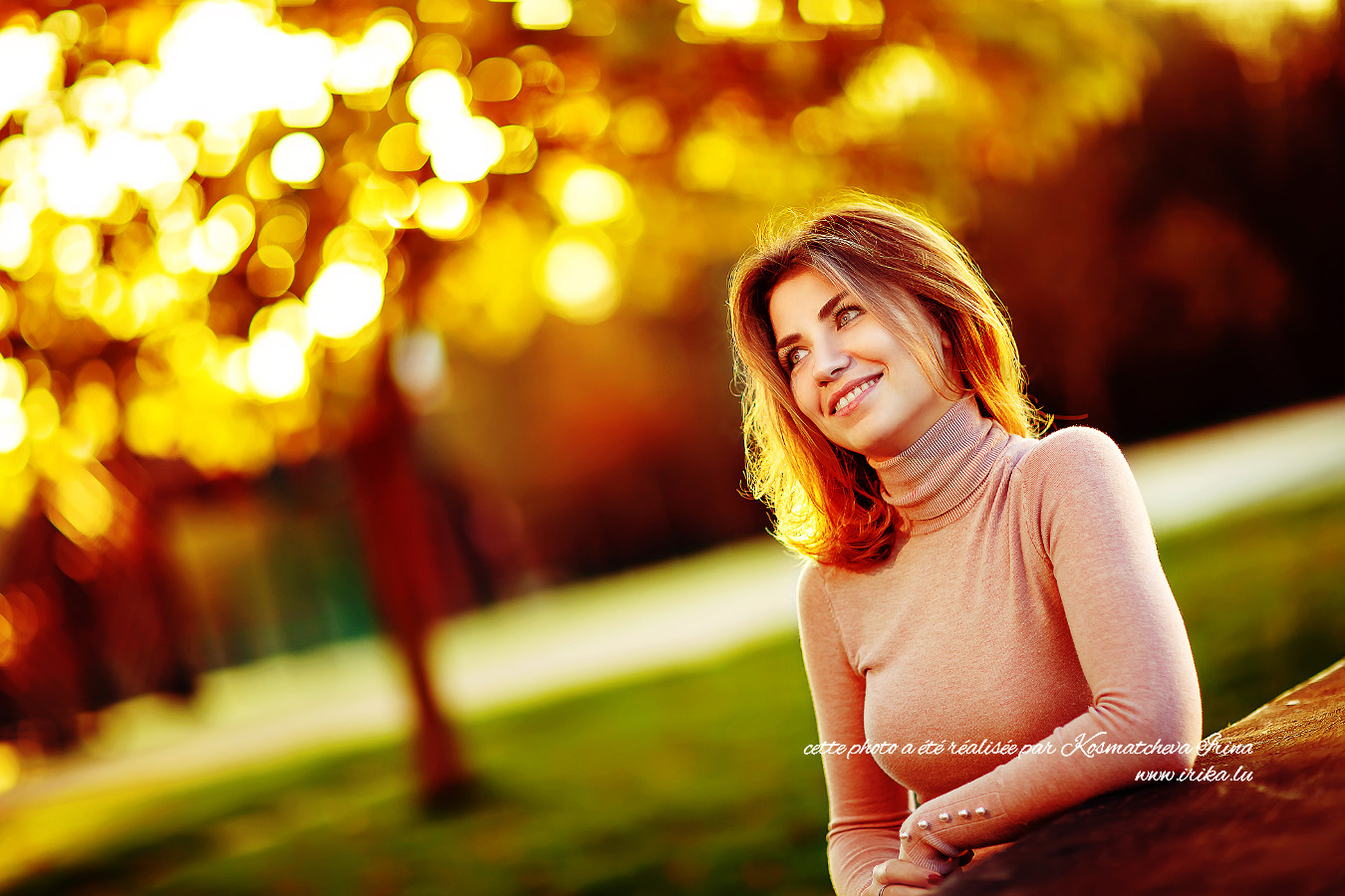 Photo dans le parc en asoirée