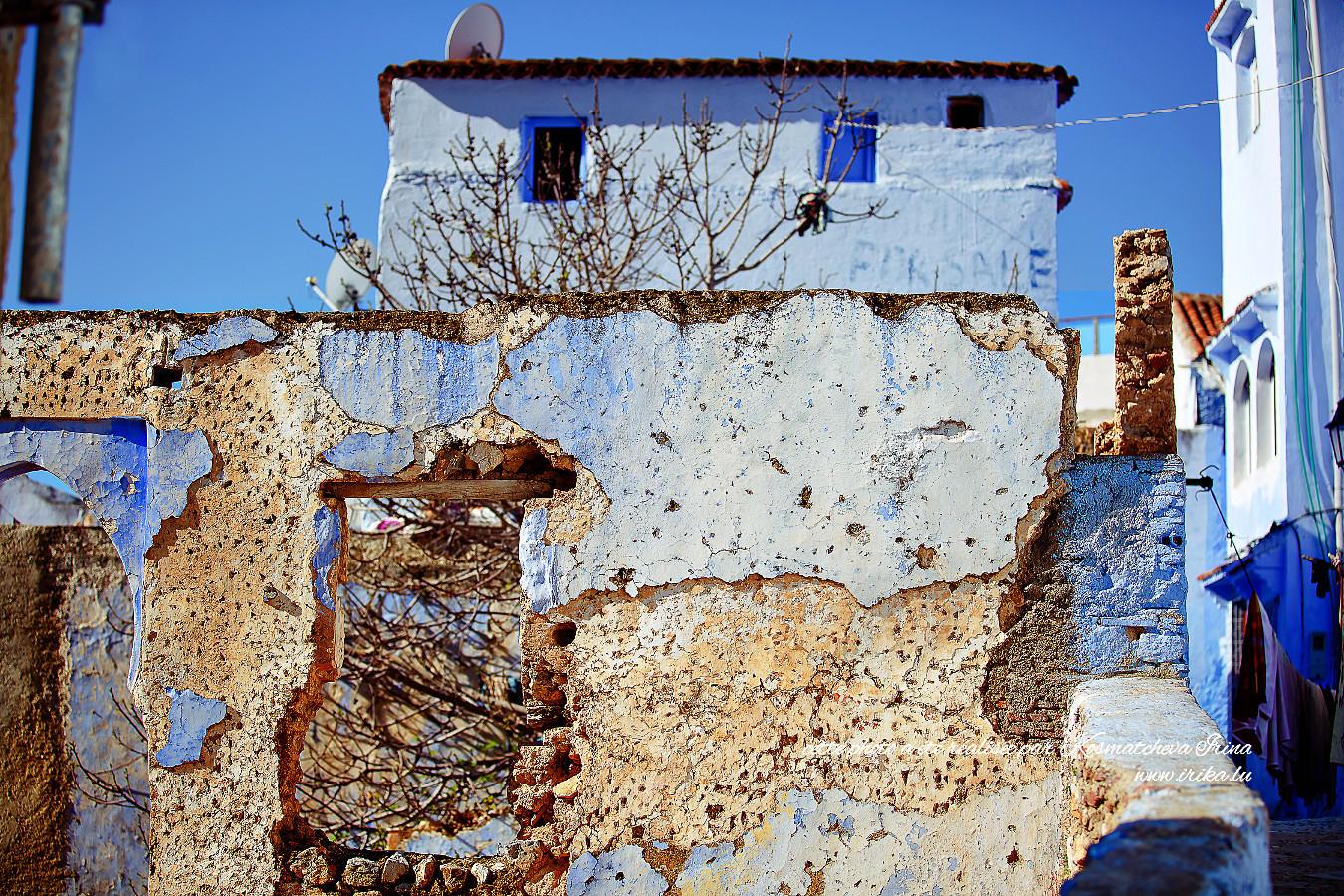 Ancienne façade bleue