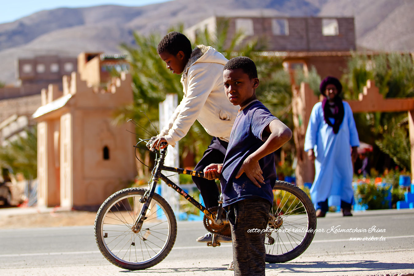 Garçons à vélo