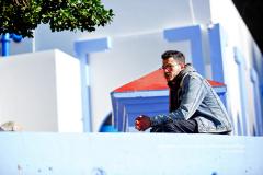 Portrait d'un jeune homme arabe