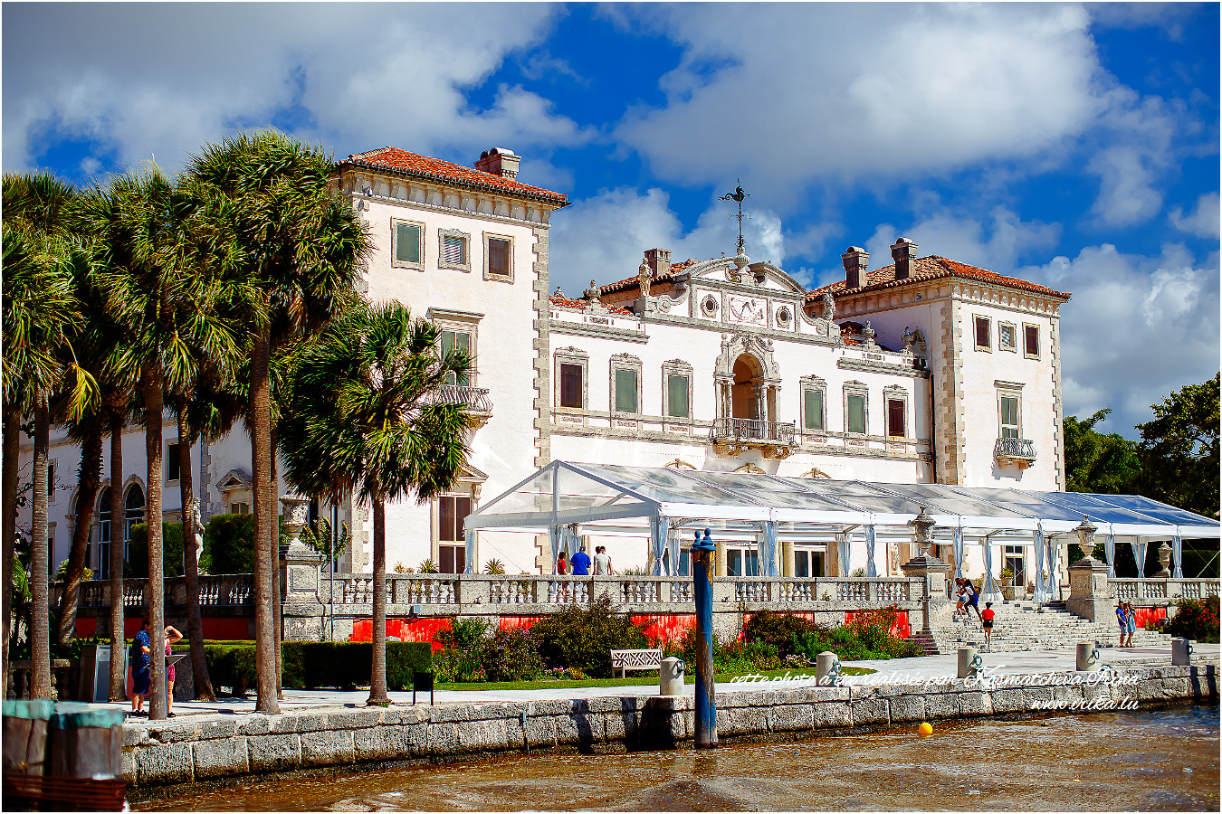 La belle vue sur Villa Vizcaya