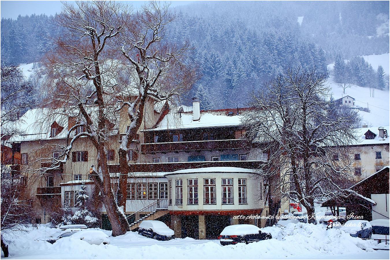 Haut dans les Alpes, soiréee neigeuse